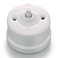Mécanisme interrupteur porcelaine blanche Fontini Garby