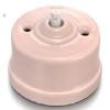 Mécanisme interrupteur porcelaine rose Fontini Garby