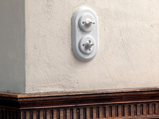 interrupteur porcelaine garby pose encastrée
